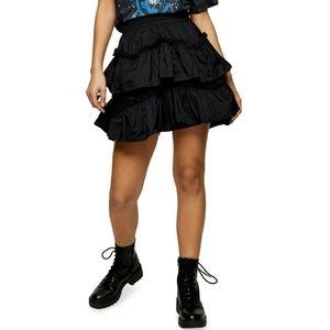 Top Shop Taffeta Ruffle Mini Skirt